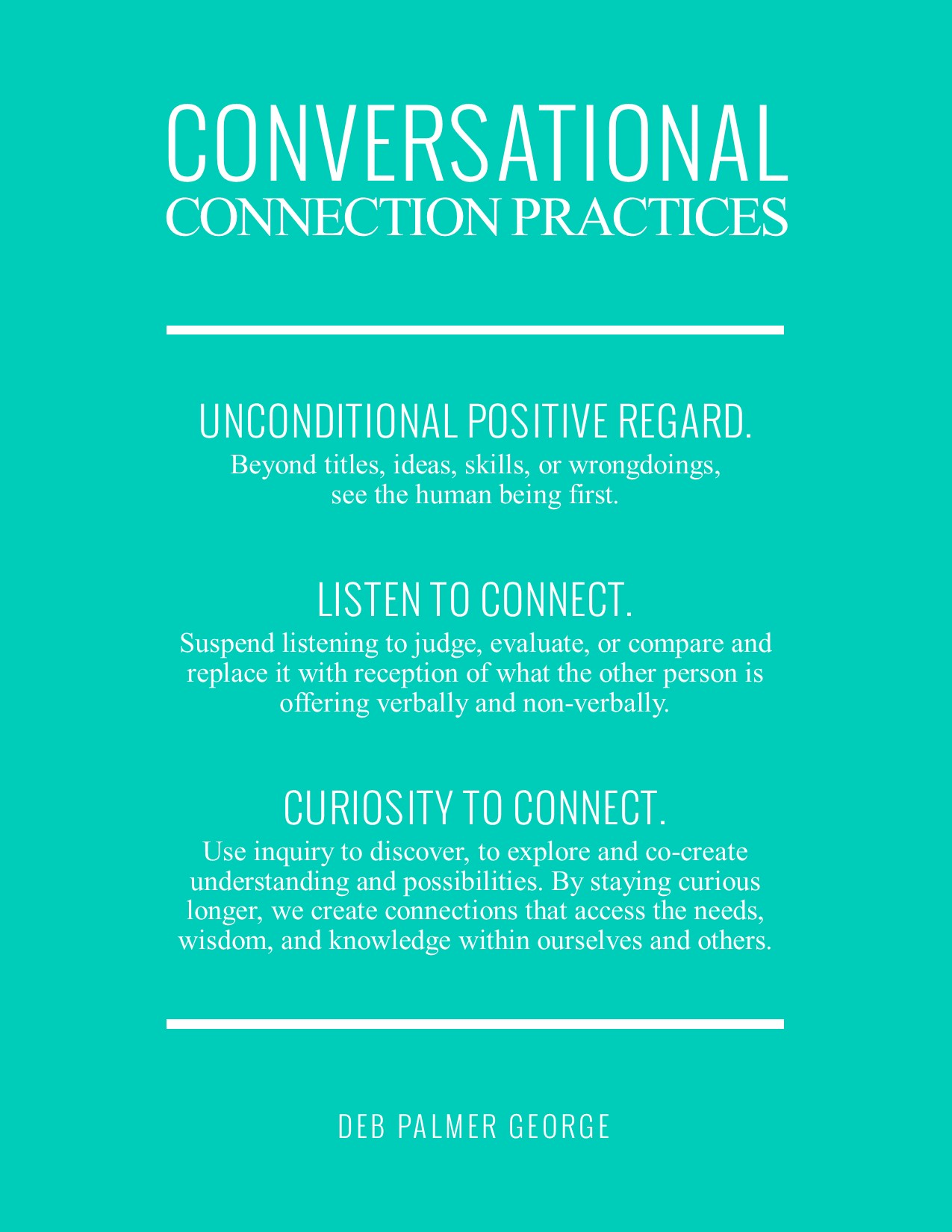 Deb Palmer George Conversational Intelligence Poster